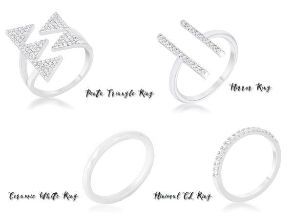 Minimalist rings from Eternal Sparkles