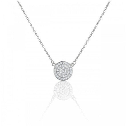 Pave Circle Sterling Silver Keepsake Pendant from Eternal Sparkles