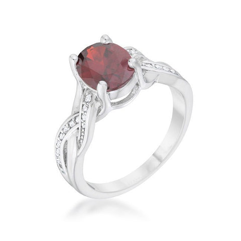 Eternal Sparkles Ruby Red Ring
