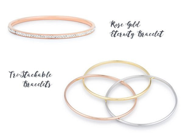 Rose gold bracelets from Eternal Sparkles