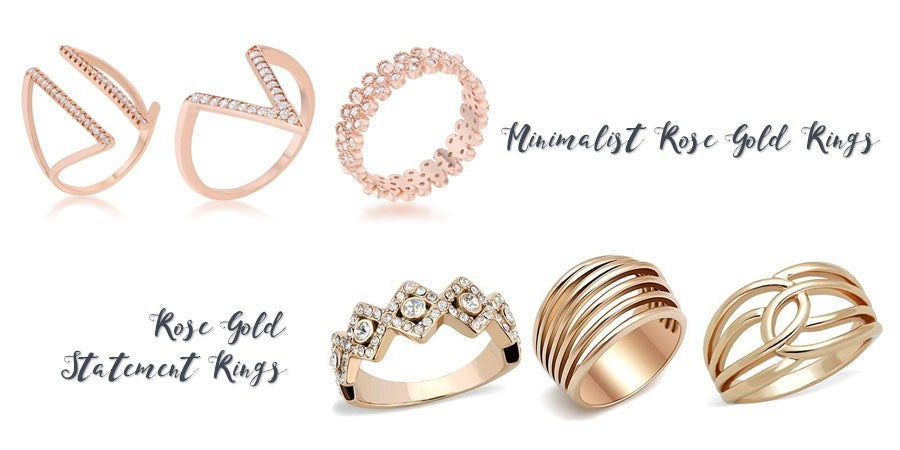 Rose gold fashion rings from Eternal Sparkles