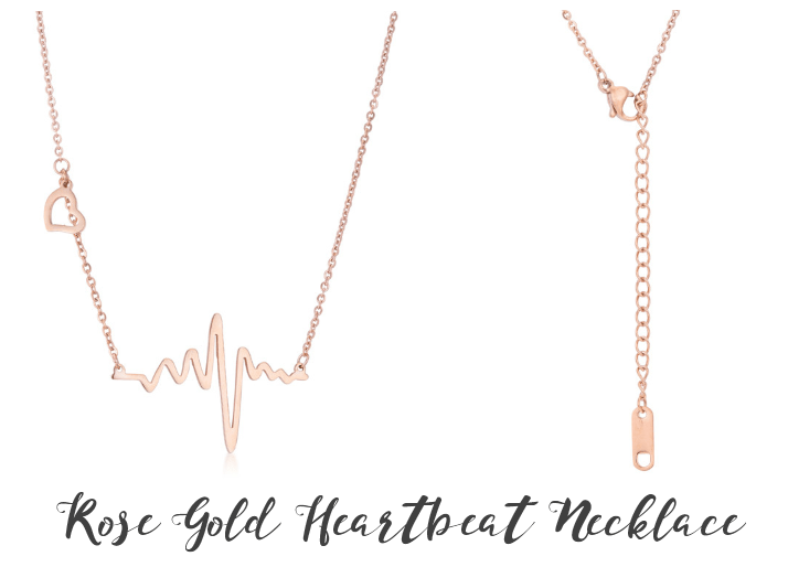 Rose Gold Heartbeat Necklace from Eternal Sparkles