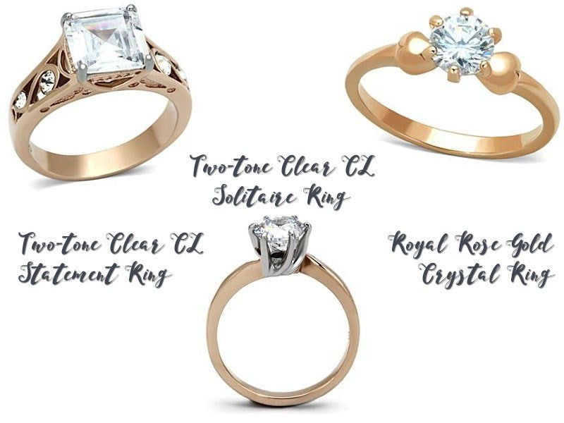 Rose gold rings from Eternal Sparkles