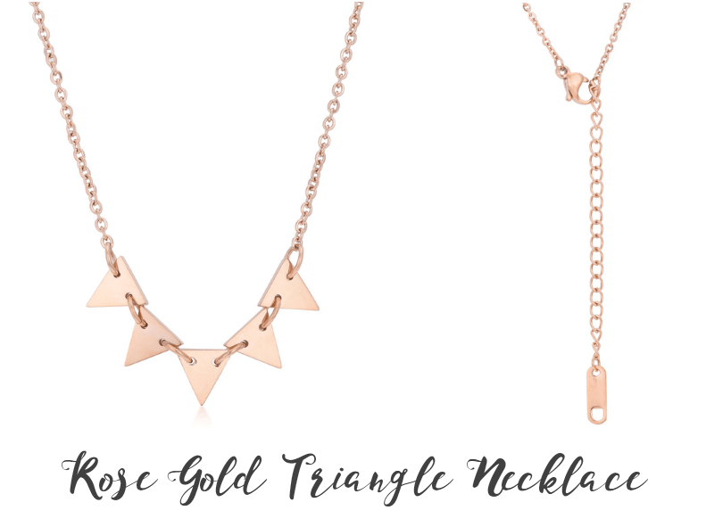 Rose Gold Triangle Necklace from Eternal Sparkles