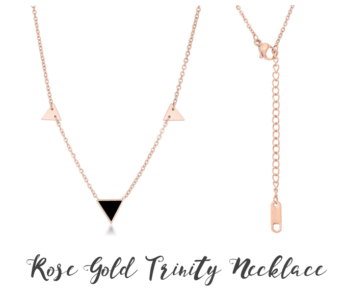 Rose Gold Trinity Necklace from Eternal Sparkles