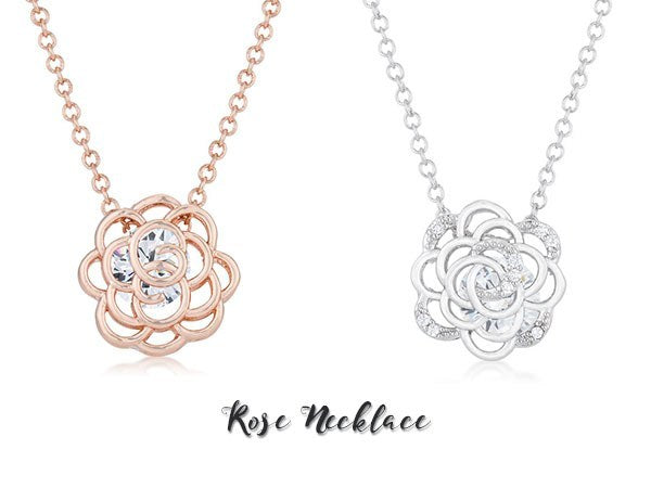 Rose necklaces by Eternal Sparkles