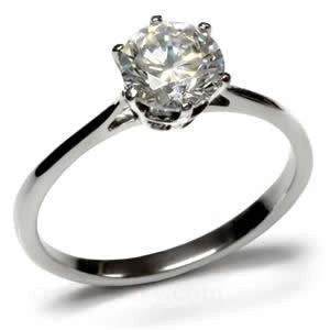Prong Set Solitaire Round CZ Ring from Eternal Sparkles