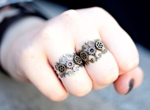 Steampunk Cogs and Gears Ring