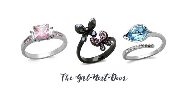 Eternal Sparkles fashion rings for the girl-next-door