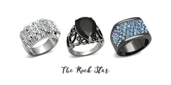 Eternal Sparkles fashion rings for the rocker chic
