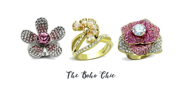 boho chic style rings from Eternal Sparkles