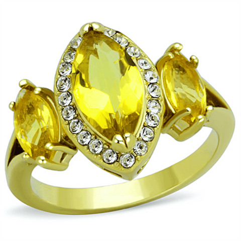 Topaz Yellow Marquise Triplet Gold Cocktail Ring from Eternal Sparkles