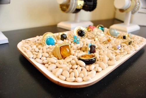 plate of dried beans ring display