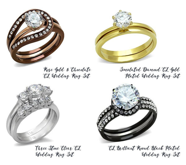 Different wedding ring colors from Eternal Sparkles