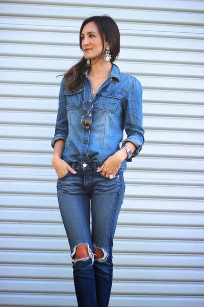 woman in denim