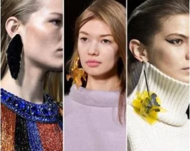 models wearing a single earring