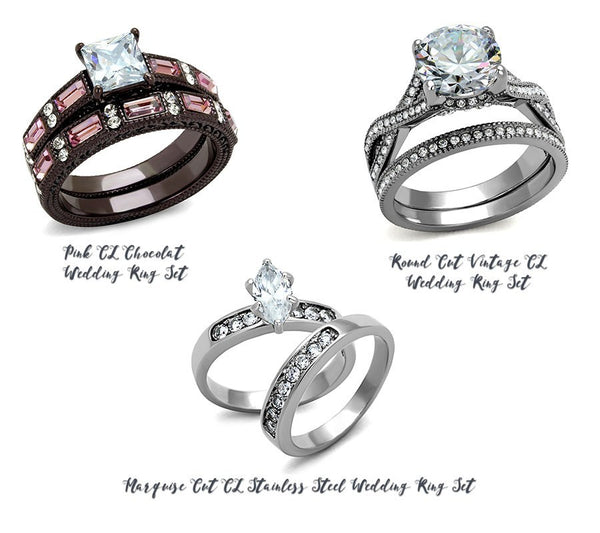 different stone cuts of wedding rings from Eternal Sparkles