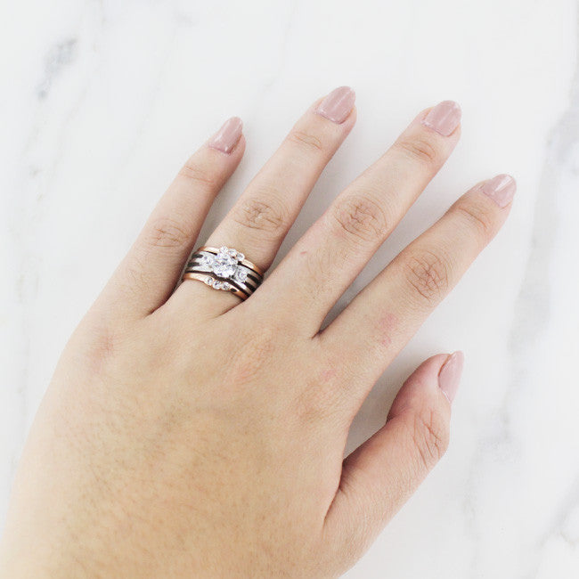 Two Tone Rose Gold Statement Ring