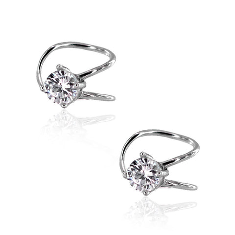 CZ Sterling Silver Earring Huggies