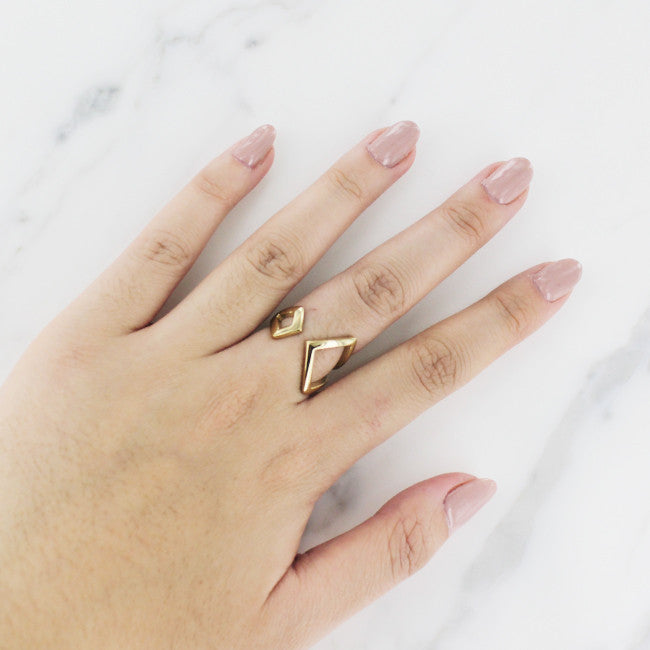 Gold Arrow Wrap Ring