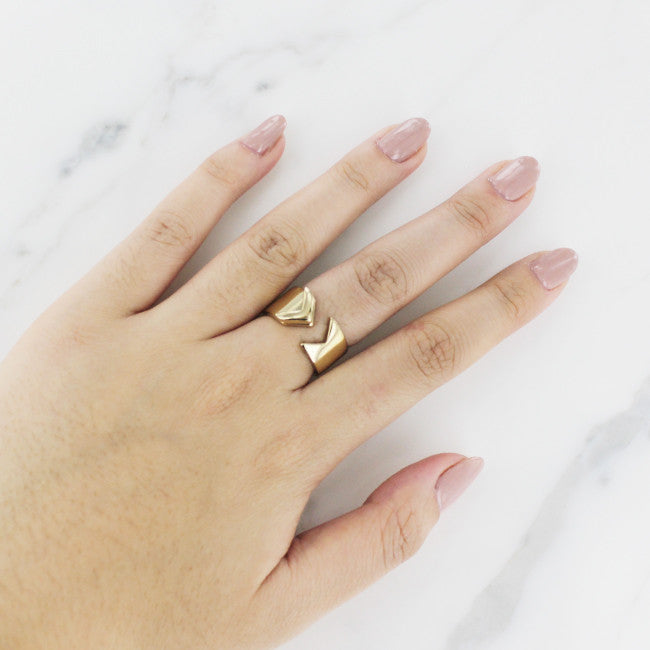 Gold Arrow Minimalist Ring