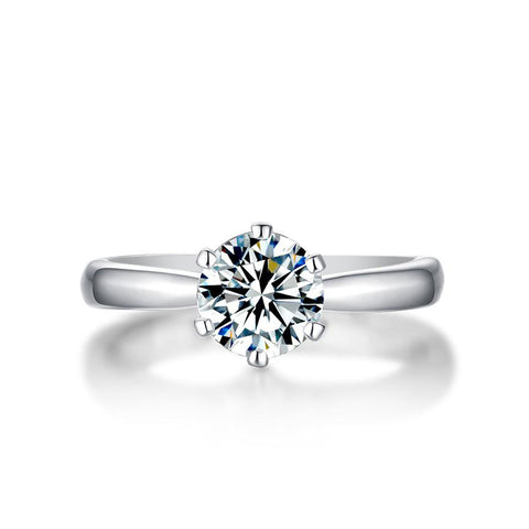 Quinn Star Moissanite 925 Sterling Silver Ring
