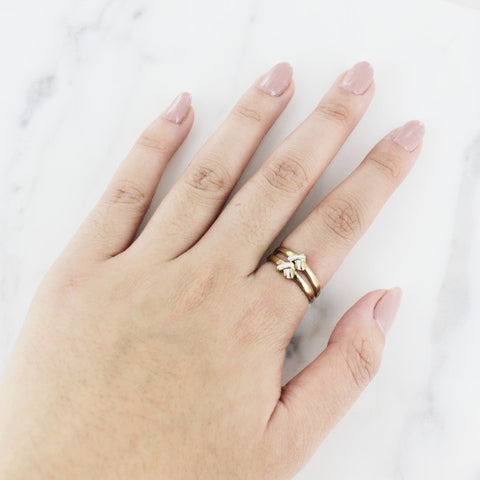 Two Toned Crystal Ring