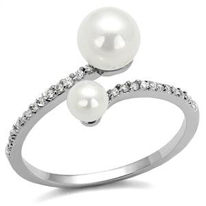 Dual White Pearl Ring