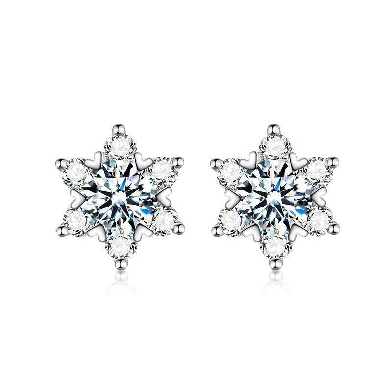 Marquise Moissanite 925 Sterling Silver Stud Earrings