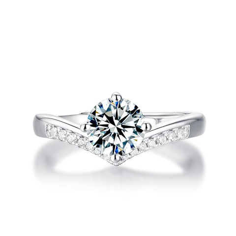 Constance Moissanite Pave Ring in 925 Sterling Silver