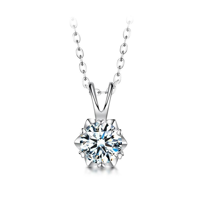 Veronique Moissanite Necklace in 925 Sterling Silver