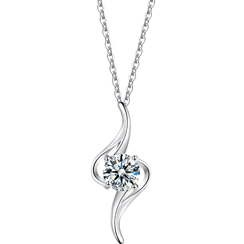 St. Tropez Moissanite Necklace in 925 Sterling Silver