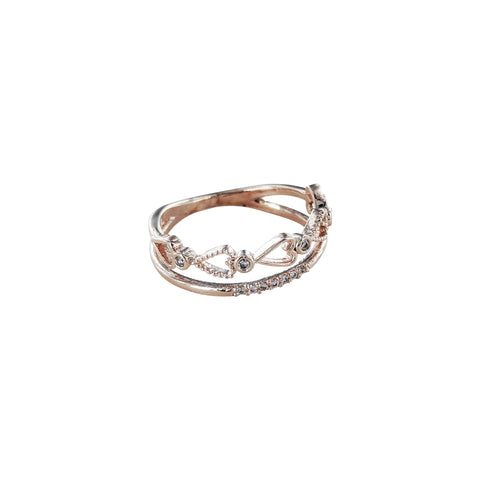 Accented Dainty Heart Cut Out Ring