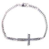 Swarovski Elements Sideways Cross Bracelet