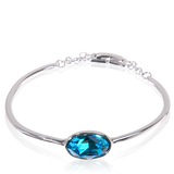 Aqua Swarovski Elements Statement Bracelet