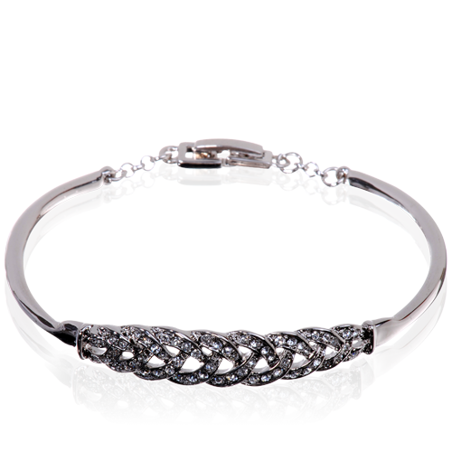 Luxe Lattice Rhodium & Swarovski Bracelet