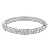 Rope Braid Crystal Pave Bracelet