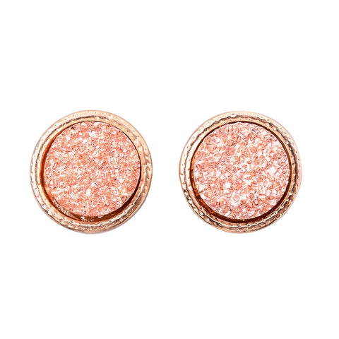 Dainty Druzy Stud Earrings