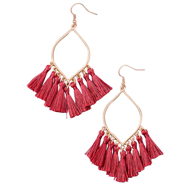 Festive Mini Tassel Earrings