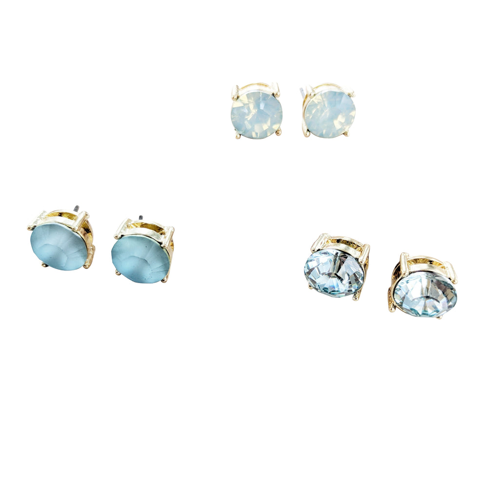 Jewel Stud Earring Set