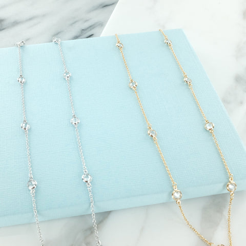 Double Strand Pearl and Gold Bars Necklace