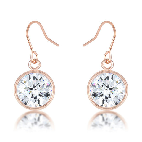 Pave Circle Rhodium Plated Swarovski Elements Earrings