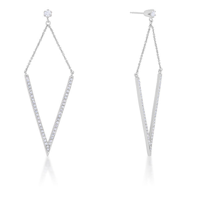 V Drop Earrings
