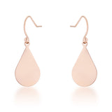 Rose Gold Teardrop Earrings