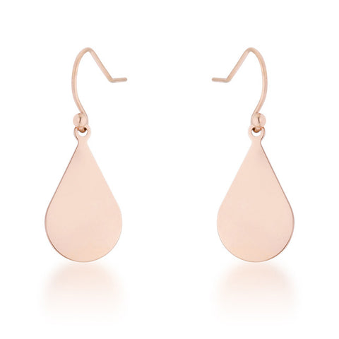Lady Silver Plated Drop Earrings