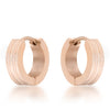 Modern Rose Gold Hoop Earrings