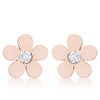Rose Gold Daisy Earrings
