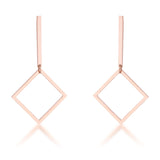 Rose Gold Geometric Drop Earrings