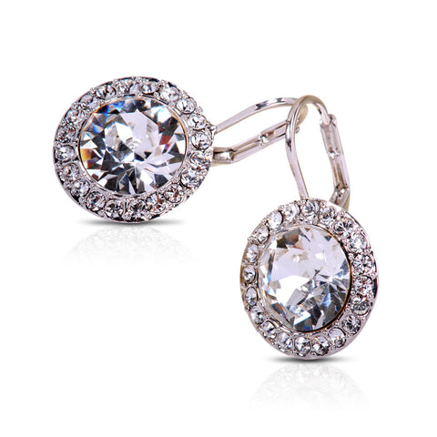 Clear Crystal Infinite Glam Drop Earrings