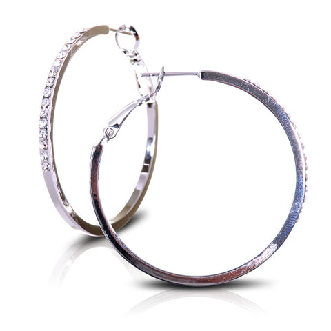 Oblong Oval Swarovski Elements Hoops